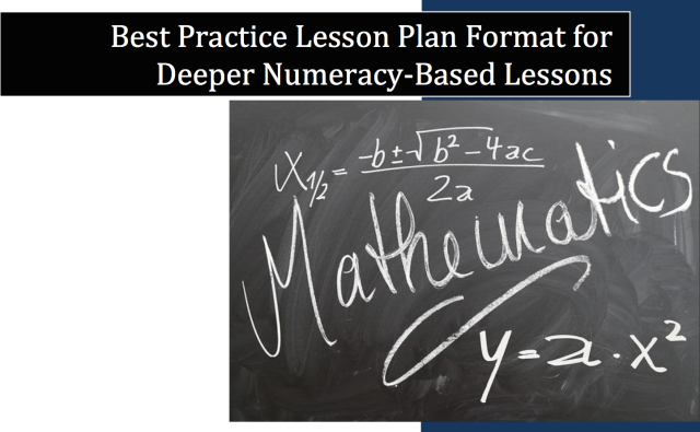 Best Practice Lesson Plan Format for Deeper Numeracy based lessons image